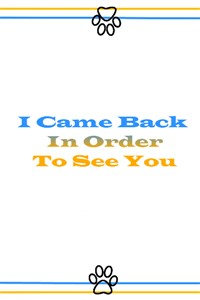 I Came Back In Order To See You